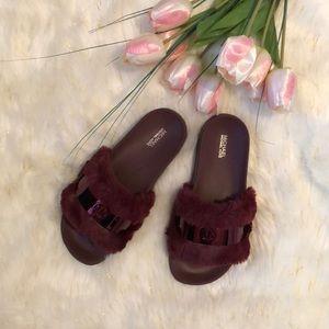 660250a9f97 Michael Kors Shoes - Michael Kors Jett slides Faux Fur NWT